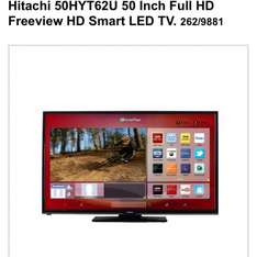 Hitachi 50 inch full hd led smart TV only £399.99 at Argos