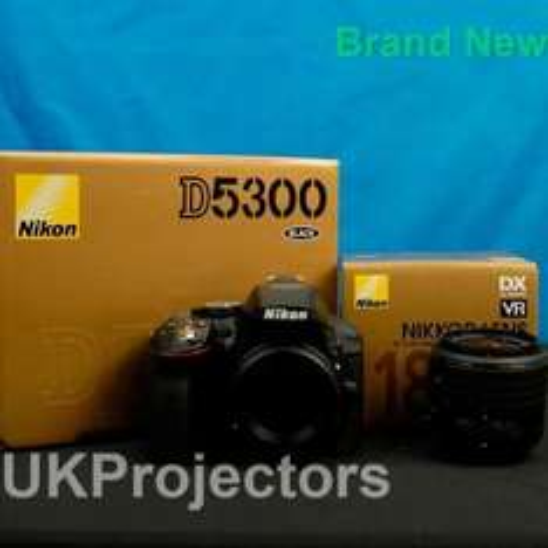 Nikon D5300 DSLR Camera VRII lens , cheapest UK seller with good feedback £474.99 @ Ebay/ ukprojector