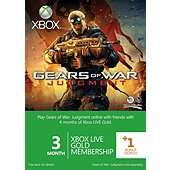 Xbox Live Gold 3-Month Membership Card With 1 Bonus Month: Gears Of War Judgment Branded £12.50 @ Tesco Direct