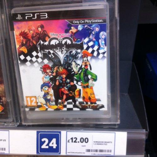 Kingdom Hearts HD 1.5 Remix £12.00 instore at Tesco PS3