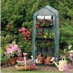 Mini 4 Tier Green House, £4.75  at Tesco with free C&C