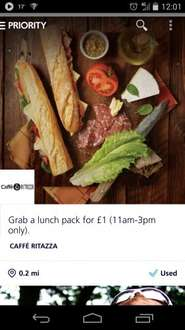 O2 Lunch Deal for £1 with 02 Priority Moments