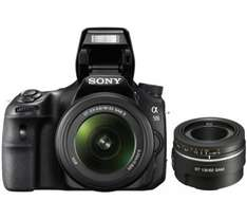 SONY A58 SLT Camera +18-55mm Lens + 50 mm f1.8 Prime Lens @ Currys