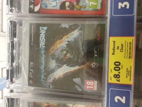 Metal gear rising revengeance ps3 £8 @ tesco instore