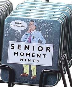 Senior Moments Mints £1.88 from amazon.co.uk (£10 spend for free delivery / Prime / Locker)