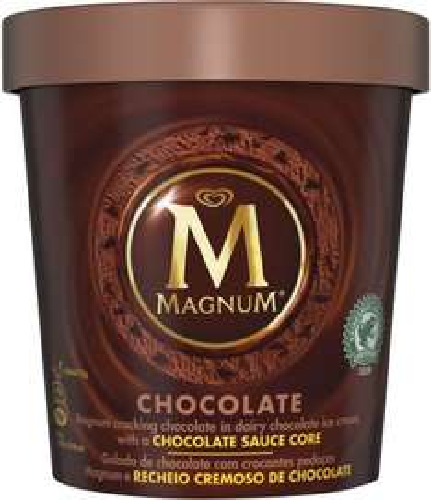 Magnum Chocolate & Vanilla & Chocolate Ice Cream Tubs (450ml) ONLY £2.00 @ Asda
