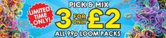 3 for £2 on 99p refill loom band packs (300) from The Works (limited offer for free delivery also)