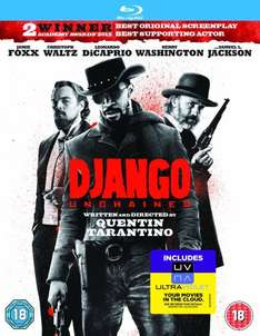 Django Unchained Blu-Ray - £7.10 at Amazon (£10 minimum spend/prime for free delivery), or £8 at Tesco
