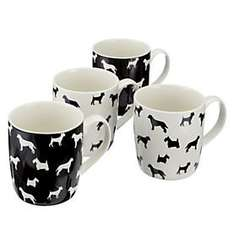 Sainsbury's Dog Silhouette Mugs, 4-pack £3.60 at Sainsburys