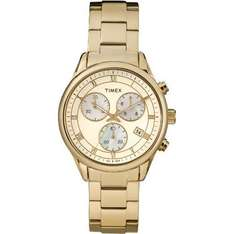 Timex Women's Quartz Watch with Gold Dial Analogue Display and Gold Stainless Steel Bracelet- £37.12 @ amazon