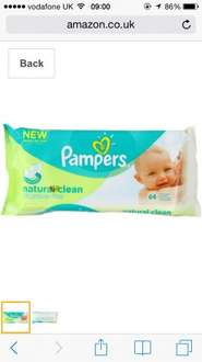 12 pack of Pampers baby wipes at Amazon. £10.50 delivered down from £17.88