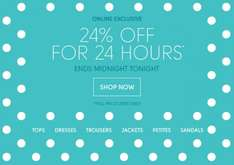 24% Off Sitewide for 24 Hours @ Wallis