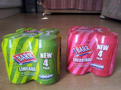 Barr 4x330ml cherryade/limeade/bubblegum 89p @ FarmFoods