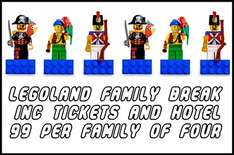 Cheap Legoland Tickets! Includes overnight Stay & Park Tickets £99 (for a family of four) @ HolidayPirates