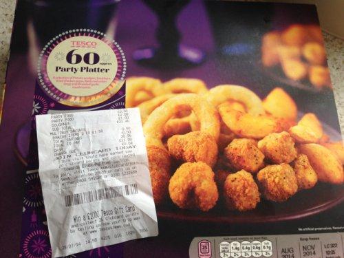 60 piece party food £2 @ tesco