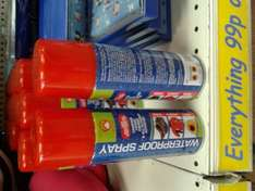Waterproof Spray for 99p at 99p Store at 99p Store