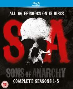 Sons of Anarchy: Complete Seasons 1-5 (Blu-ray) @ HMV Ireland (Free UK Delivery) - £39.99  (10% off code - AUGUST10)