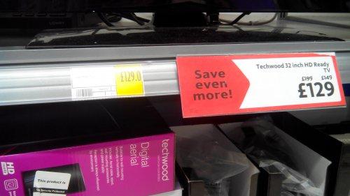 "Techwood 32"" TV £129 at Morrisons"