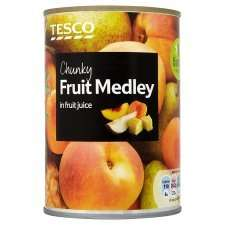 Chunky Fruit Medley In Juice 410G - 90p each or 2 for £1.00 @ Tesco