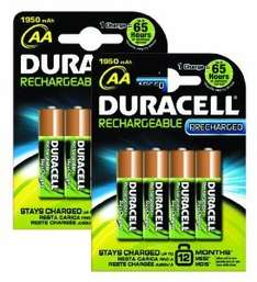 Duracell PreCharged Rechargeable 1950 mAh AA Batteries - 8 Pack for £9.98 (£10.87 with P&P) @ Amazon (via iCell Media)