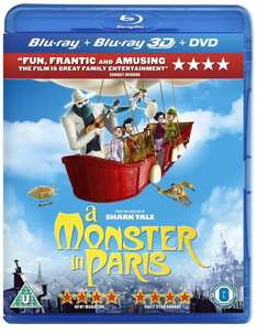 A Monster in Paris - Bluray, Bluray3D and DVD. £4.90 @ Amazon. (Free Delivery with Prime)
