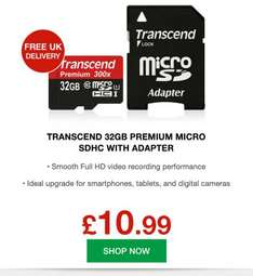 Transcend 32GB Premium Micro SDHC with Adapter Class 10 / UHS-1 45 MB/s - £10.99 @ MyMemory