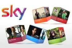 Sky Tv half price for 12 months £9 - packages from £10.75 per month + £25 installation fee