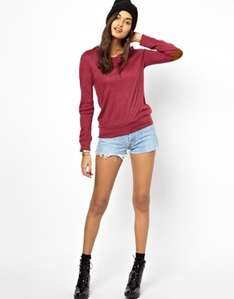 Glamorous Marl Jumper With Elbow Patch £5.00 at ASOS
