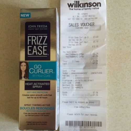 John Frieda Frizz Ease Go Curlier Heat Activated Spray 100 ml  1/3 off - £4.61 instore @ Wilko