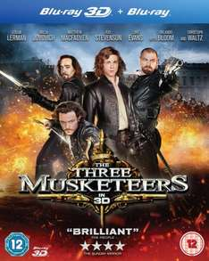 The Three Musketeers (Blu-ray 3D + Blu-ray) AMAZON - £5.40 (Free Delivery with Prime/£10 Spend)