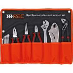 RAC 14 Piece Spanner, Plier and Wrench Set for £8.99 instead of 19.99 @ Argos