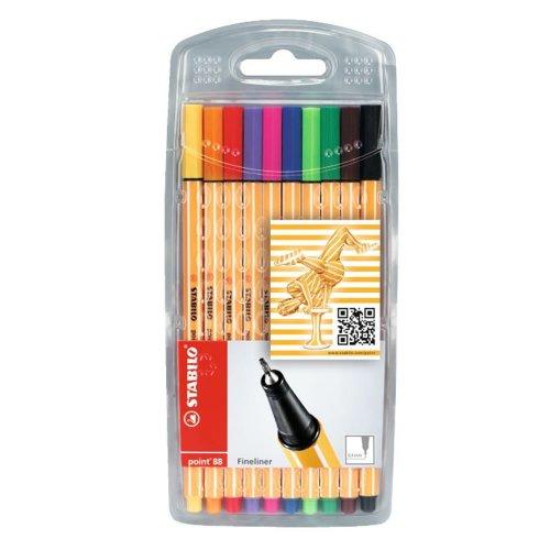 Stabilo Point 88 fineliners 10pk colour £2.50 @ Wilko
