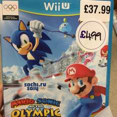 Mario and Sonic at Olympic Winter Games (Wii U) £4.99 @ HMV Oxford Street