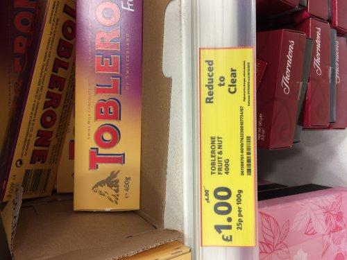 Toblerone Fruit & Nut 400g @ Tesco for £1