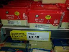Morrisons Mature Chedder Cheese 2 x 350g for £3.50 at Morrisons