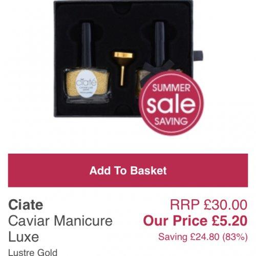 Ciate caviar manicure £5.20 @ allbeauty