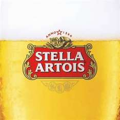 24 cans of Stella £10 in Tesco