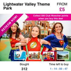 £5 entry to lightwater valley @ wowcher