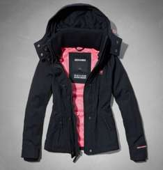 Ladies All Season Jacket Navy Blue Was £140 now £37.99 with free delivery @ Abercrombie & Fitch
