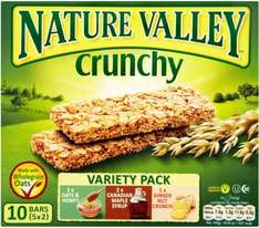 Nature Valley Cereal Bars (5 & 6 packs) £1.24 @ Tesco