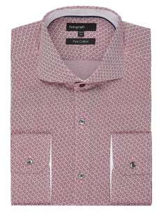 M&S Pure Cotton Abstract Pink Shirt - £5.99 Free store collection