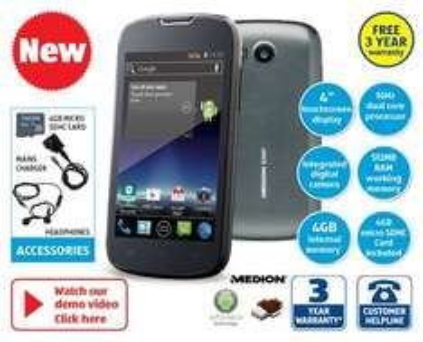 ALDI Smart Phone on Sale Thursday 7th August - £79.99 - 3 year guarantee