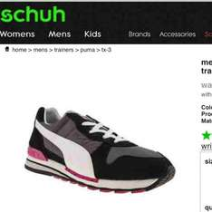 Mens puma tx-3 retro trainers £19.99 delivered on schuh(+ easy 15% extra off + 5% quidco) all sizes 7-12