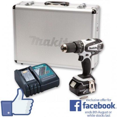 Makita DHP456RMWX Combi Drill 18V 4.0Ah (Facebook Exclusive Offer) £139.94 @ Axminster