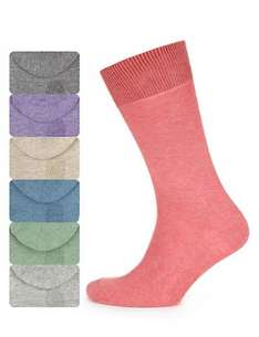 m&s 7 Pairs of Cotton Rich Freshfeet™ Marl Socks with Silver Technology £3.99 collect in store