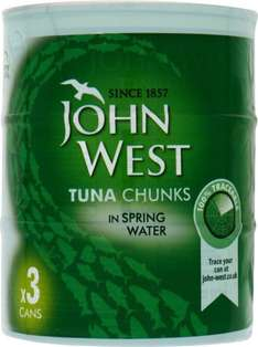 John West Tuna Chunks in Spring Water (3x160g) £3 (halfprice) @ tesco