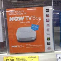 Now tv with 4 months entertainment packed £12.50 @ Tesco instore
