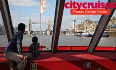 45 min Thames Circular Cruises Trip, £3.25 for kids over 5 and £6.50 for adult at LittleBird