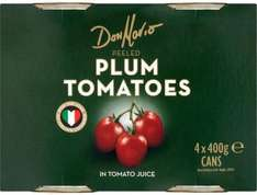 Don Mario Plum or Chopped Tomatoes (4 x 400g) was £2.69 now £1.89 @ Morrisons