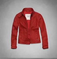Abercrombie & Fitch Ladies Leather Jacket was £320 now £64 with free delivery